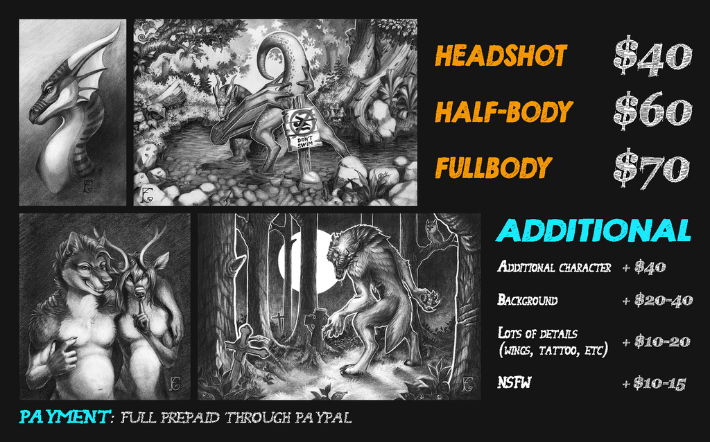 DETAILED COMMISSION PRICE-LIST