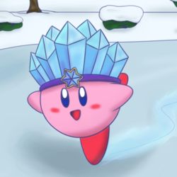 Night Skating with Ice Kirby
