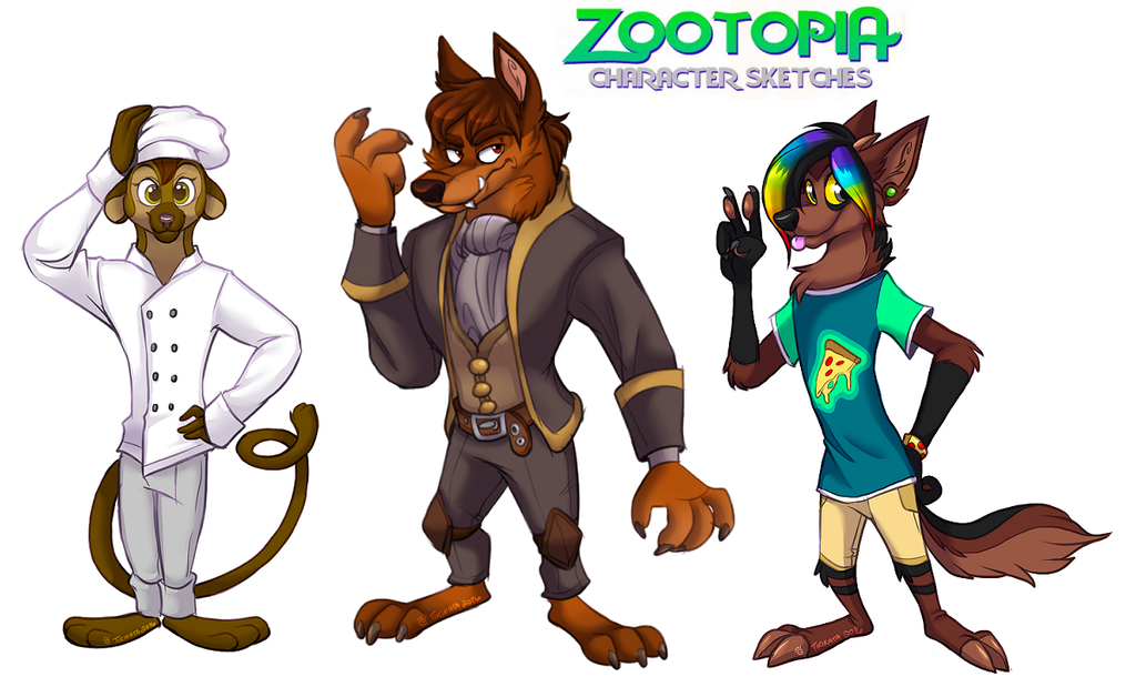 Zootopia Sketches 9 (Commissions)