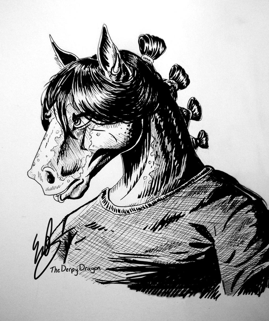 Ink Portrait - Rue