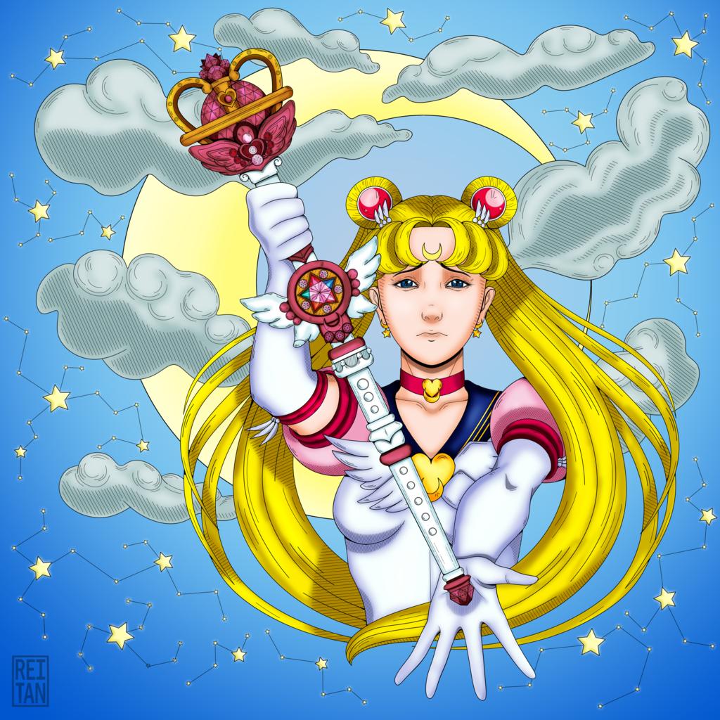 Silver Moon Crystal Power Kiss