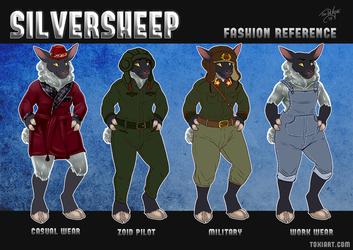 Silver Sheep Fashion Reference Sheet by Toxi De Vyne