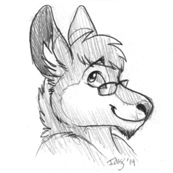 """""""Well, you know..."""" (headshot sketch by Idess)"""