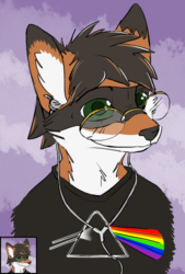 [COMM] Fnar777 Head Portrait - by Imperfectflame & Me