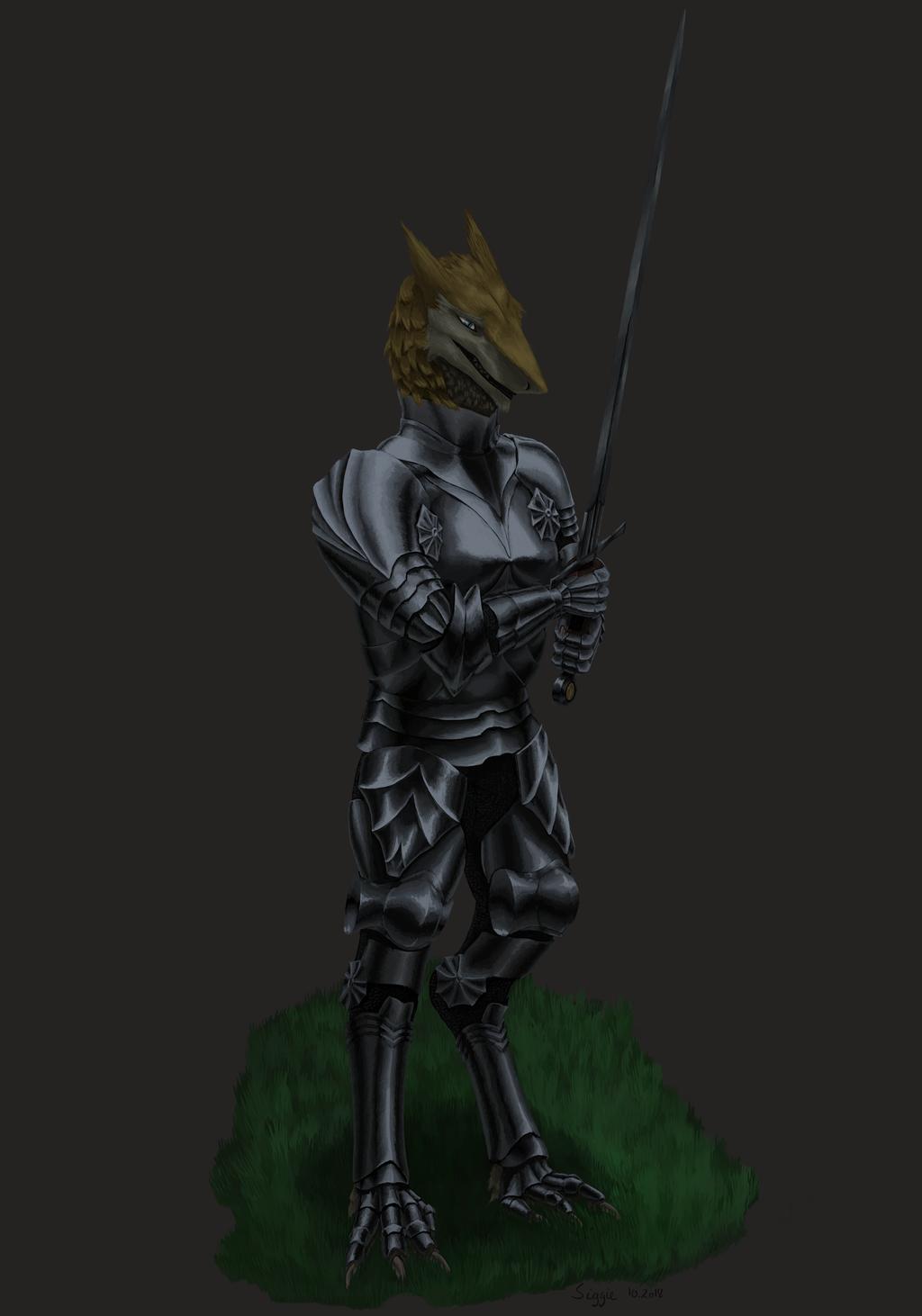 Sergal with a sword