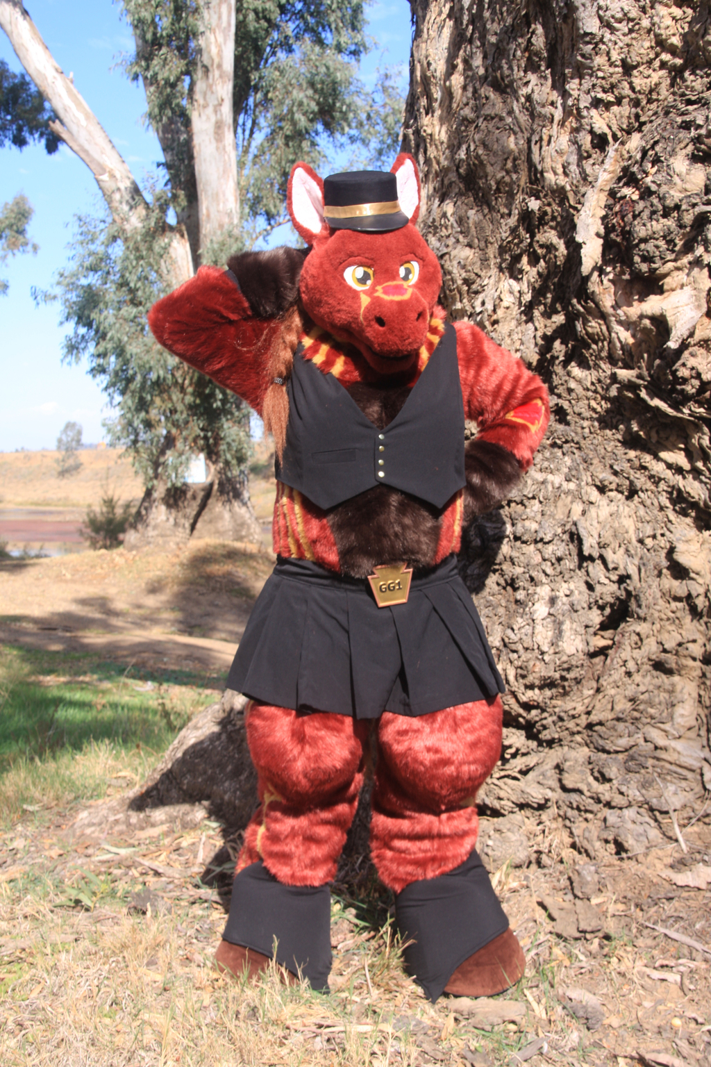 """Most recent image: Gina Gertrude One, or """"GG1"""".  Here posing by a river in Dubbo, New South Wales, Australia"""