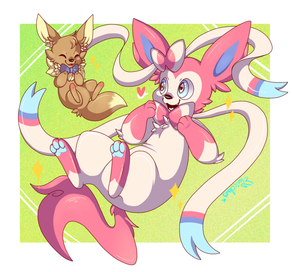Most recent image: : Sylveon and Eevee :