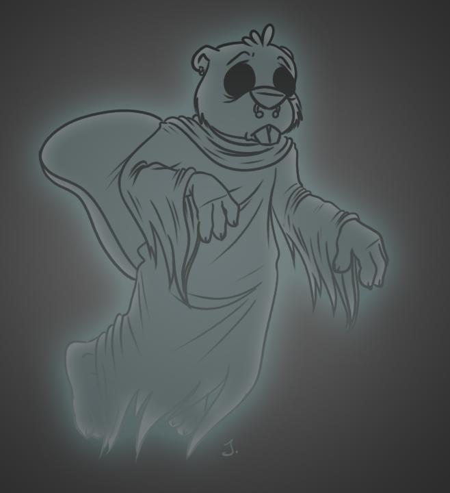 Drawlloween #1: Ghost