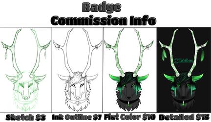 Badge Commission Info