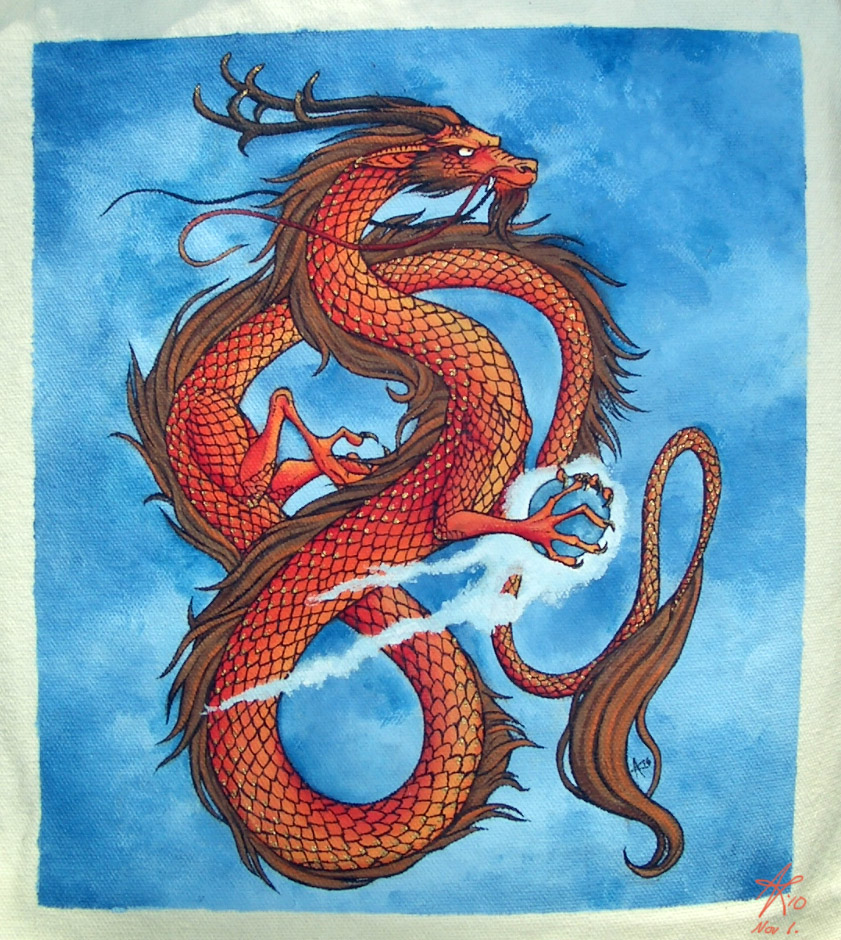 Most recent image: Asian Dragon Painting
