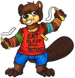 """Eat. Sleep. RAVE. Repeat."" - Barkley Beaver (MFF 2014)"