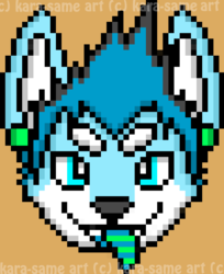 spazzyhusky pixel icon