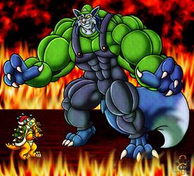 Luigi-yena vs Bowser