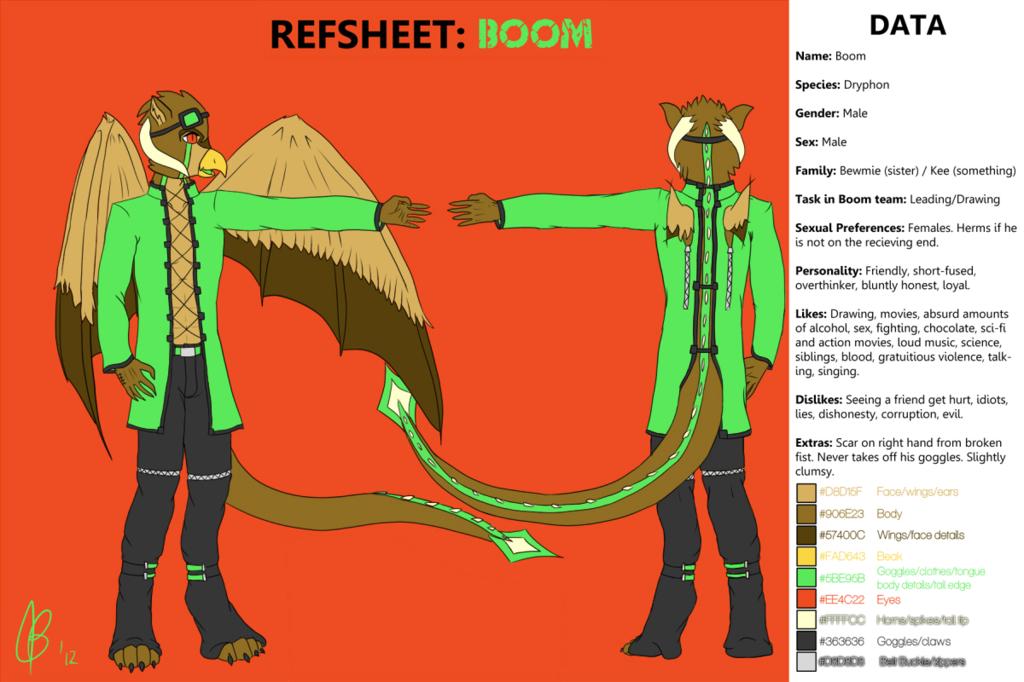 Most recent image: Refsheet: Boom