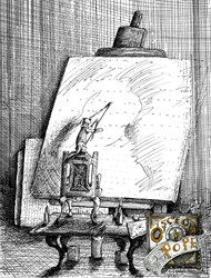 The artist at his easel