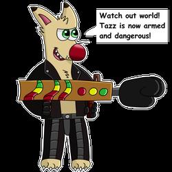 Tazz is armed sticker!