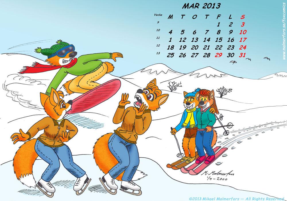 Fox Calendar 2013 - March