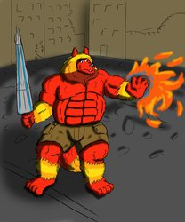 Big Bad Beast Using his fire