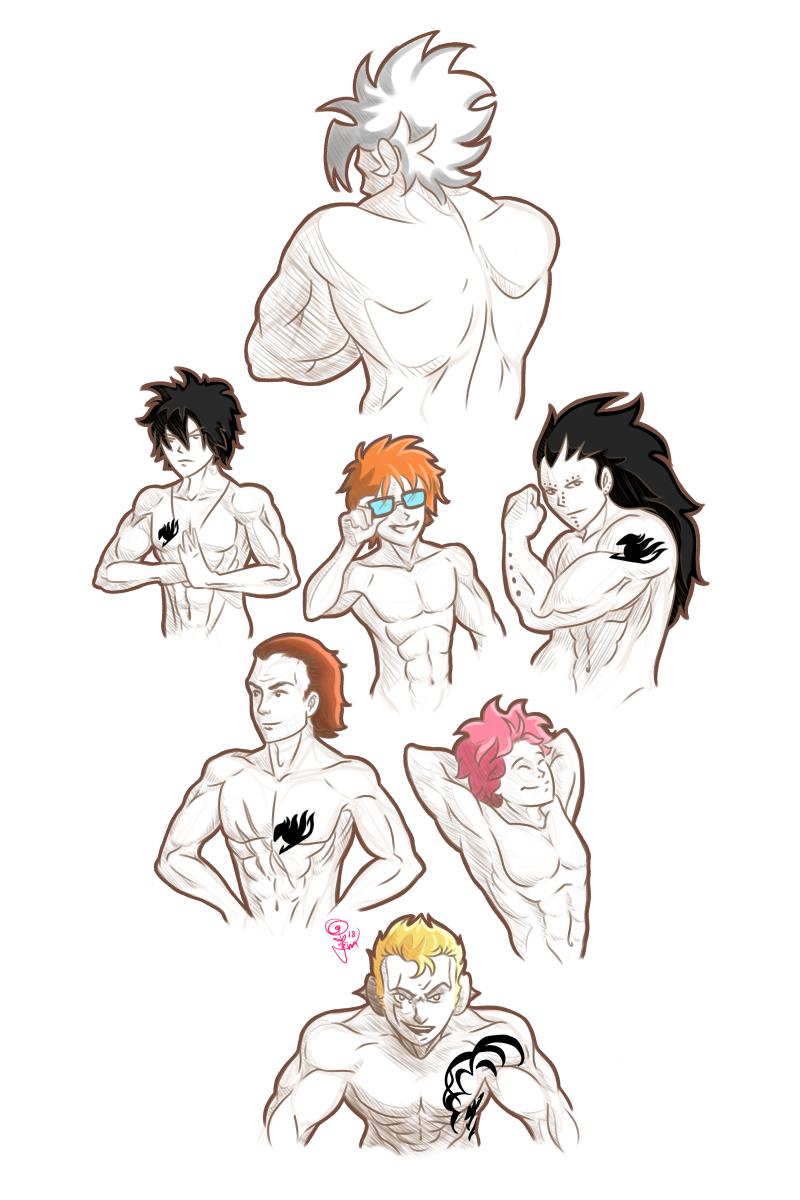 Fairy Tail Anatomy Studies