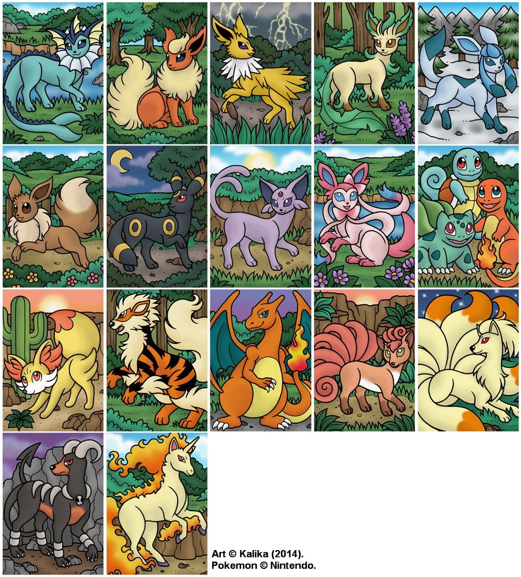 Pokemon Magnets - 2014