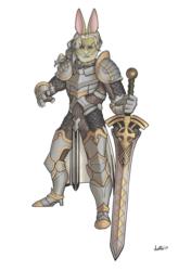 Colored Sketch - Tsumi - Rabbit Warrior