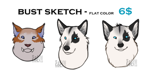 bust sketches - flat color 6$