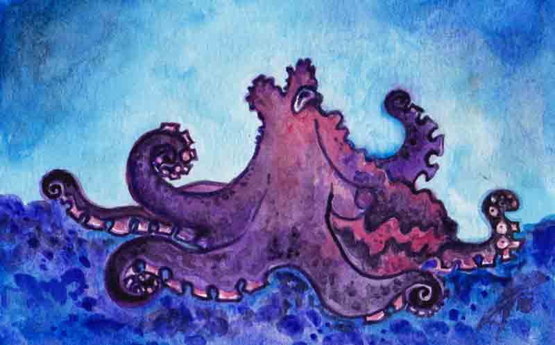 Purple Octopus 2
