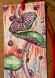 Mushroom Magic Illustrated Bookmark