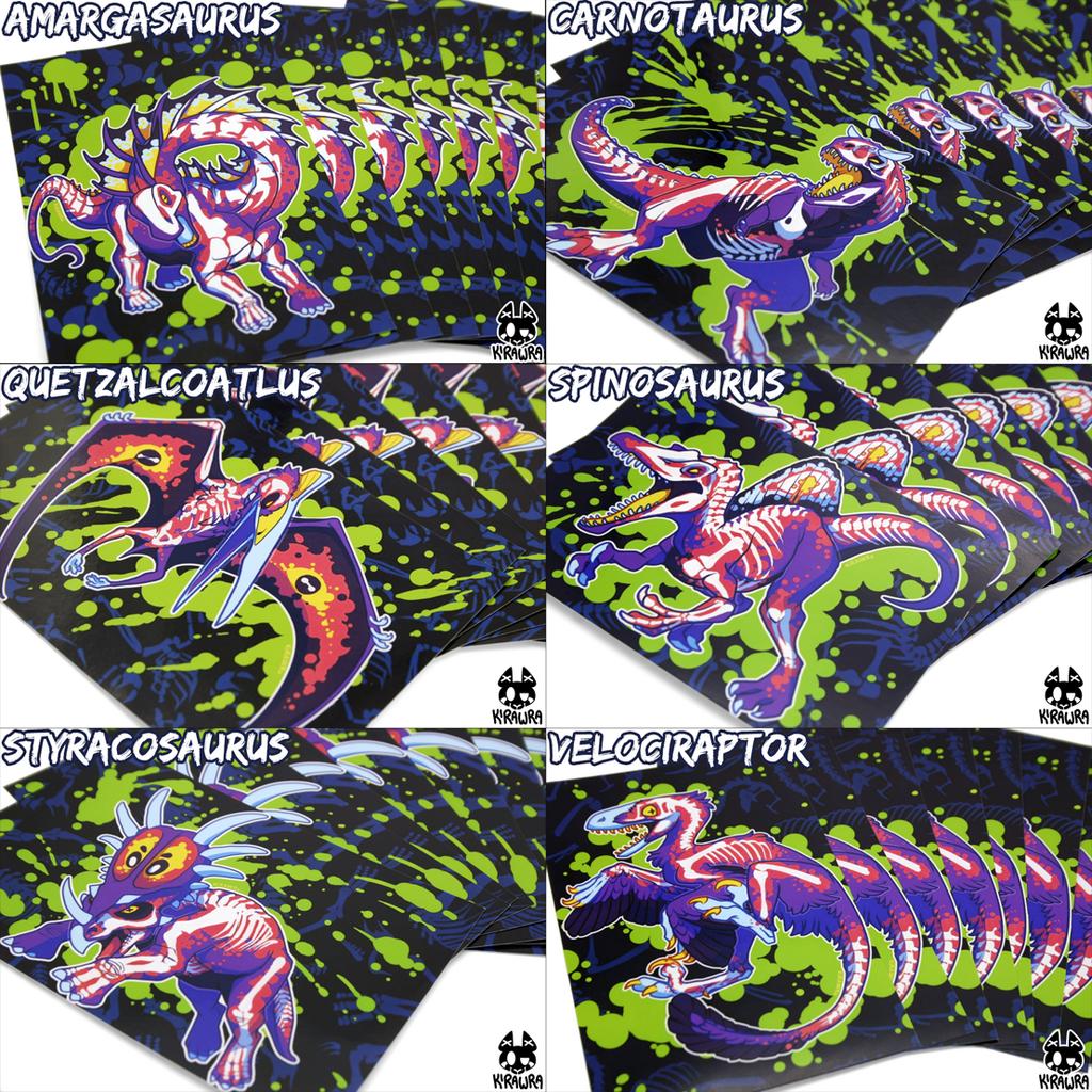 Rad Dino Art Prints