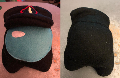 Among Us Black with hat Plush Commission