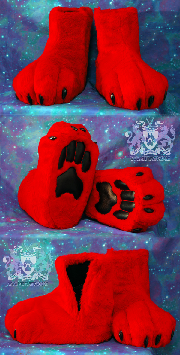 Petite Red Dobie Feet