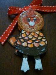 Sebright Rooster Bottle Cap Doll