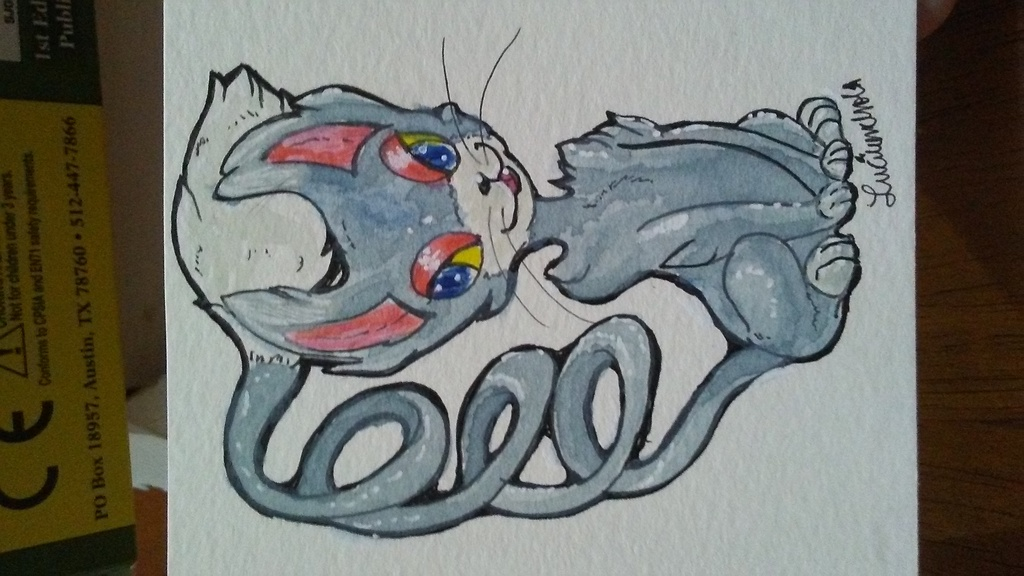 Most recent image: Glameow Watercolor