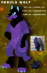 Nebula Wolf Design + Tail for Sale