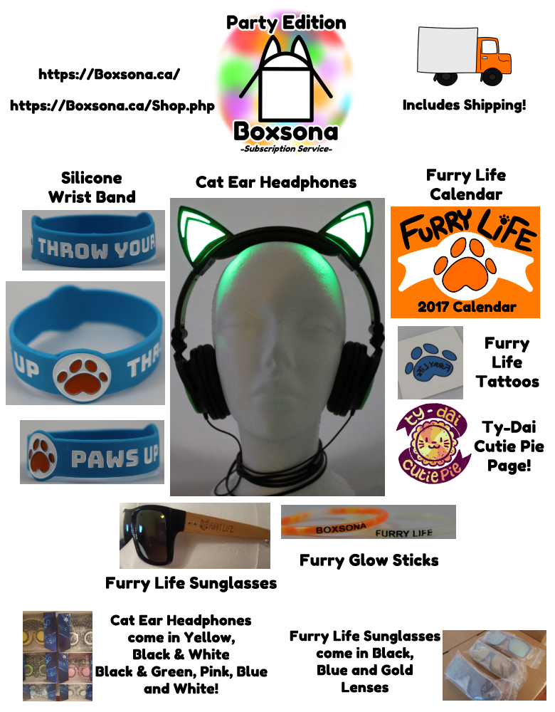 Collage of Items in our Party Boxes and Envelopes!