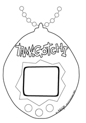 Tamagotchi [Free to Use Coloring Page]
