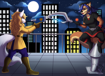 Commission: Roof Top Chase