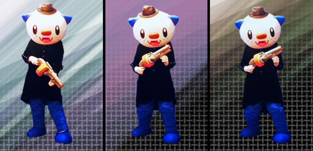 """Mascot Fursuiting: """"Say Hello to Oshawott Noire's Li'l Friend!"""""""
