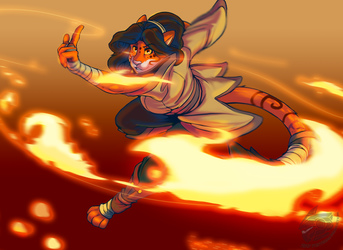 Kung Fu Fire! (Commission Art)