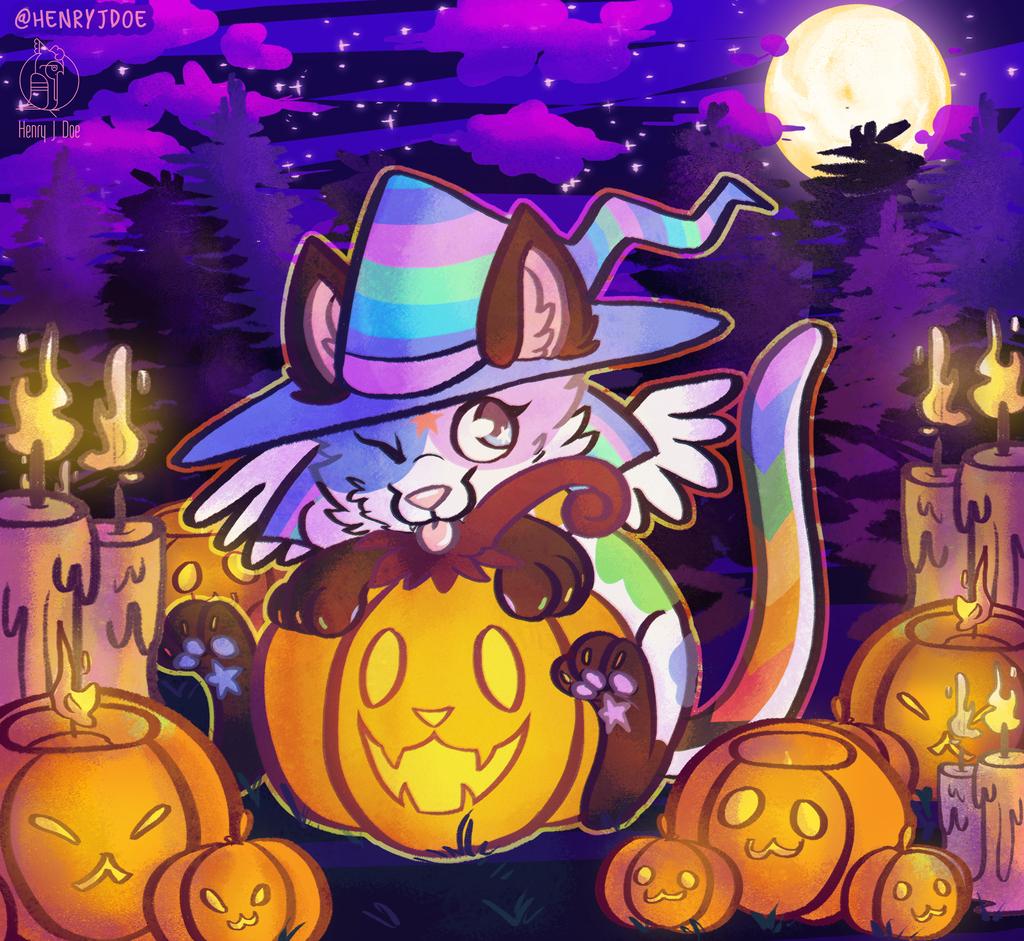 Halloween YCH for Spiitfire
