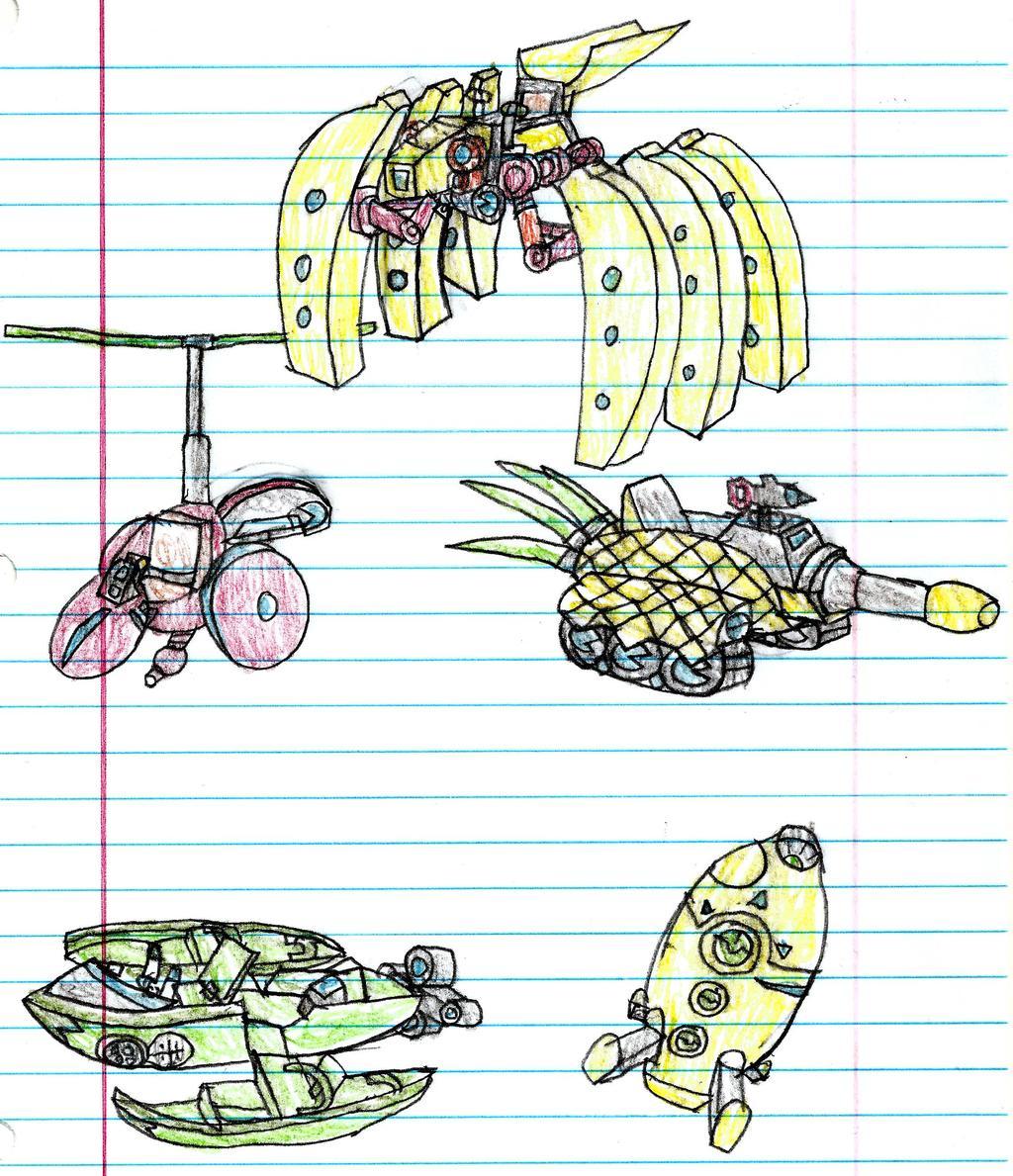 Pac-Man Fruit Vehicles