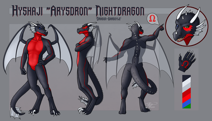 Arysdron Nightdragon Reference Sheet V2 by Ralloonx