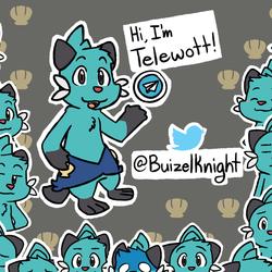 062216_0001: Telegram Telewott Dewott Sticker Set