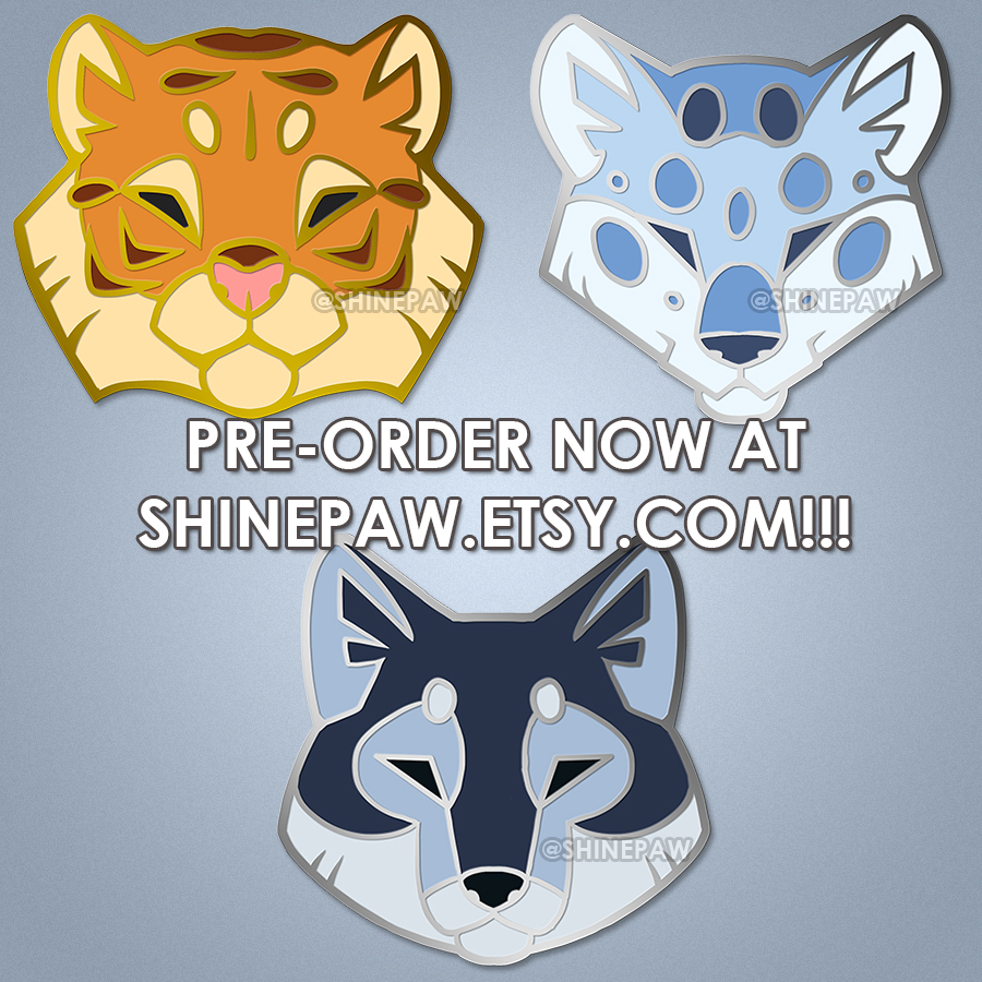 Most recent image: Angular animal head enamel pin - PRE-ORDERS NOW OPEN!!!!