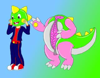 bubble dragon suit
