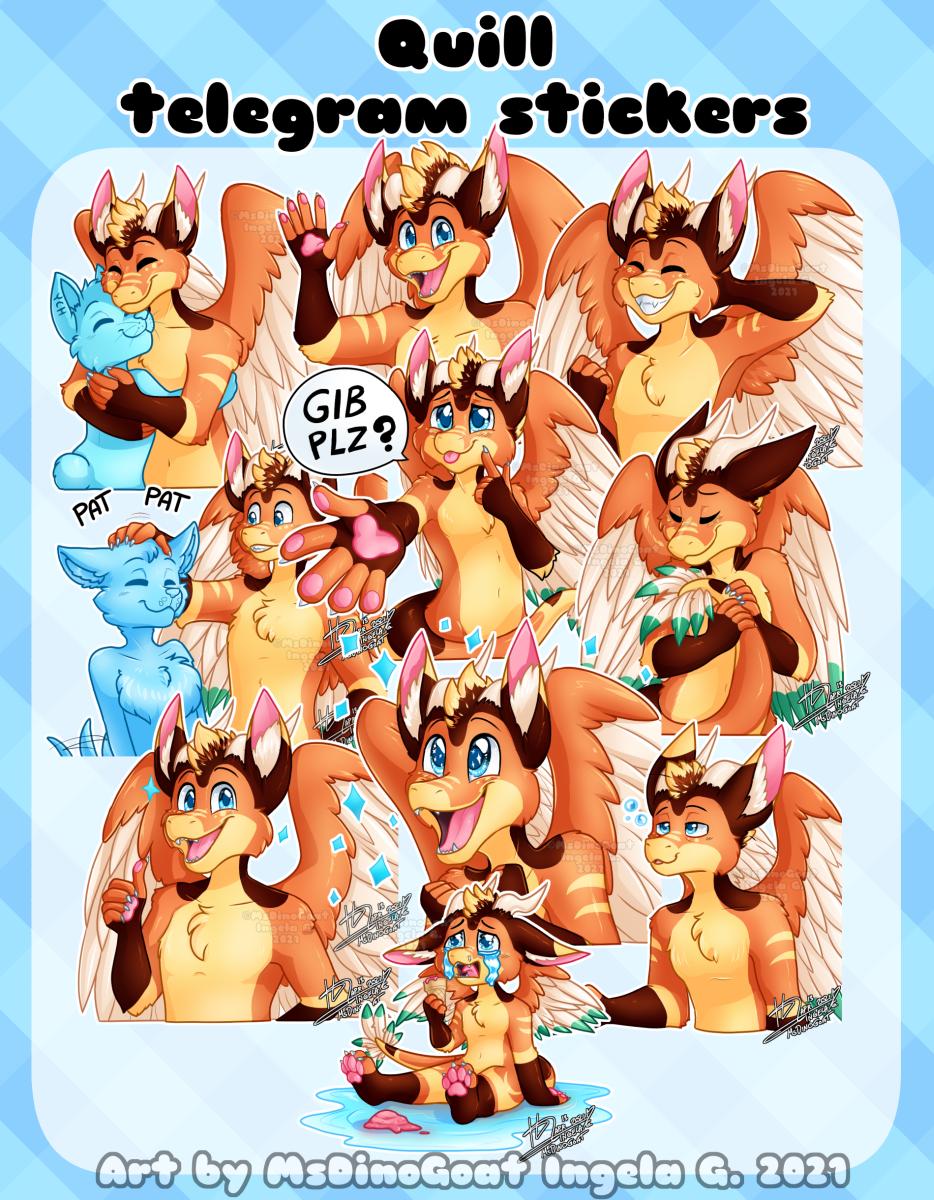 Quill telegram sticker pack