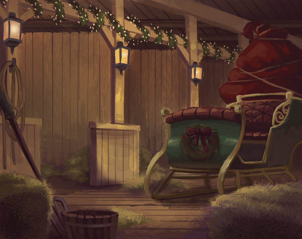 YCH Background - Santa's Reindeer