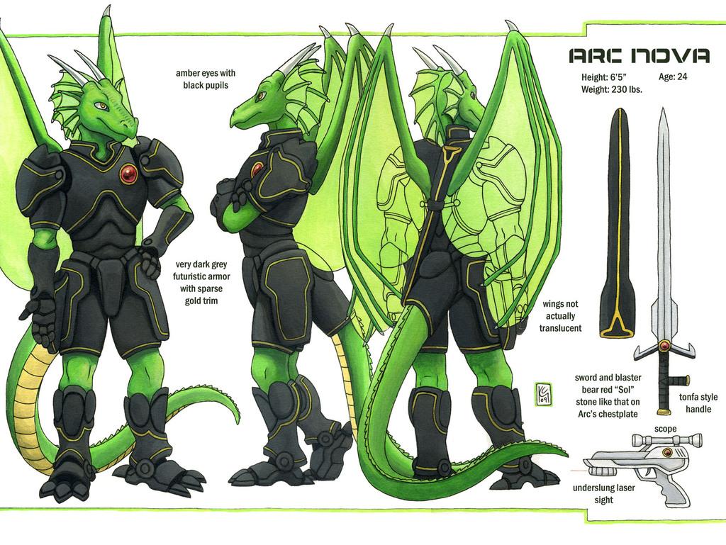 Arc Nova Character/Ref Sheet