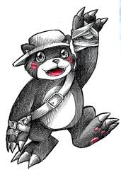 Inktober 22: Bearmon