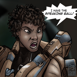 I HAVE THE SPEAKING BALL